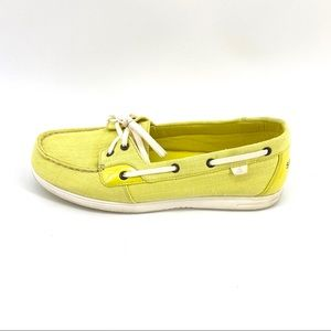 Sperry Topsider Canvas Loafers 10 Neon Yellow